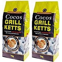 Grillketts de coco–Barbacoa bloques de coco–Grill ecológica