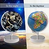 Illuminato Mondo Globo,2 in 1 Earth Globe and Embedded LED Constellations for Night Illuminated View,8 pollici Globo del mondo educativo per la decorazione di articoli per la casa