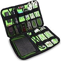 BUBM Portable Universal Electronics Accessori Organizzatore, attrezzatura da viaggio Organizzatore per i telefoni, cavi USB, Banche di potenza, macchine fotografiche, hard disk e Etc.by Senhai (Medium, Nero)