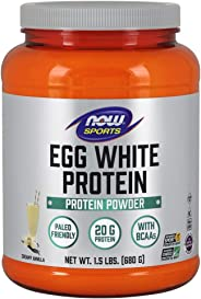 NOW Sports NOW Sports Eggwhite Protein Powder Creamy Vanilla 1.5 lb