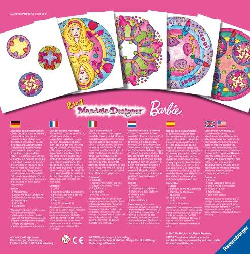 Imagen principal de Ravensburger 2 in 1 Mandala Designer 29723 Barbie - Set para crear diseños decorativos [importado de Alemania]
