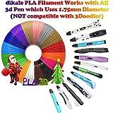 20 Stück 3D Stift Filament,20 Farben 5M 3D Pen PLA Filament Ink Filament 1.75mm 3D Print Filament 3D Printing Pen Supplies 3D Stift Farben Set für 3D Stift, 3D Drucker, 3D Pen