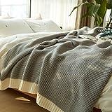 Max Home Weiche Decken nordischen Stil Stricken Casual Decke Büro Nickerchen Gültig für Stuhl...