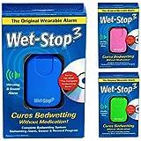 Wet-Stop3 Bleu Enurésie Alarme avec Son et vibrations, Moniteur Pipi au lit d'alarme pour les garçons ou les filles pour l'énurésie nocturne