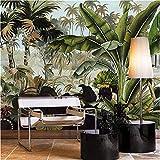 Wallpaper 3D Wallpaper Tropical Green Coconut Rainforest Tridimensionale Pittura ad olio vegetale Sofa Background Wall carta da parati fotomurali murale Soggiorno camera da letto-250cm×170cm