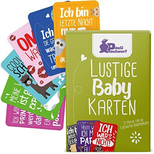 Geschenk-karte Schnelle (Lustige Baby Meilenstein-Karten für die ersten Lebensjahre - 21 liebevoll gestaltete Karten - Ideal als Geschenk zur Geburt, Taufe, Schwangerschaft, Ostern - Baby Milestone Cards DEUTSCH)