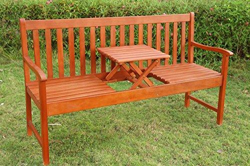 Gartenbank mit Tisch - 4
