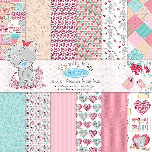 tiny-tatty-teddy-paper-pack-12x12-48-pkg-girl