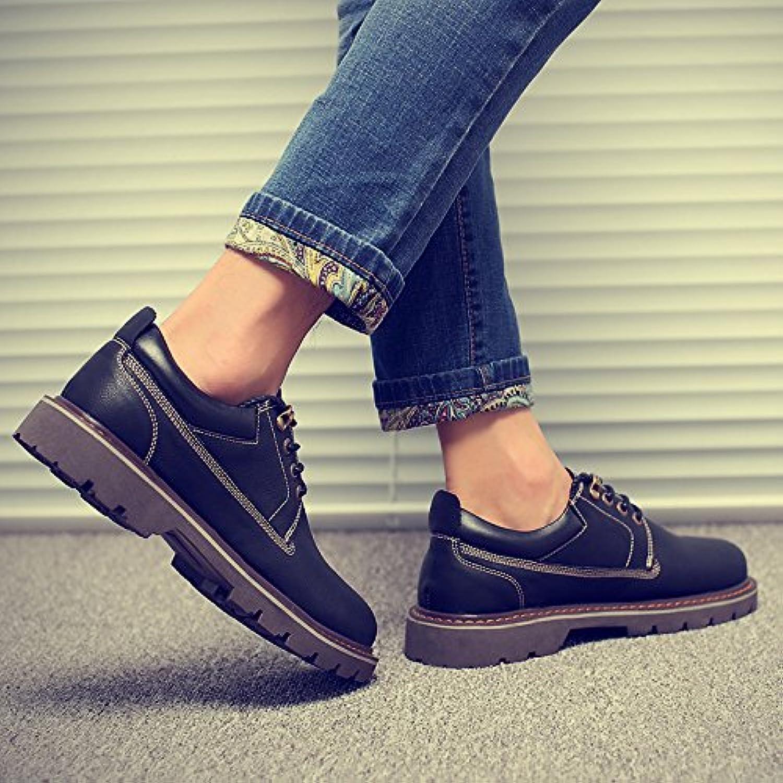 HL-PYL-Martin botas, zapatos, zapatos de cuero y zapatos casual hombres Inglés,43,negro