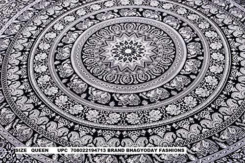 Indian Elephant Mandala Tapestry