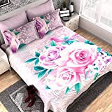 Dream Weaverz Cotton Classy And Attractive King Size Bedsheet For Double Bed With Pillow Covers, 100 X 100 Inches(Multicolour)