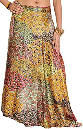 Exotic India Cotton Full Skirt