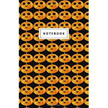 """Notebook: Halloween mini jack-o-lanterns - Beautiful Design: 5.5"""" x 8.5"""" lined pages. Great for note-taking/Composition/Writing/Planning/Diary/Gift"""