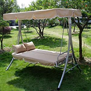 Loywe luxury swing garden swing with bed function LW10 Beige