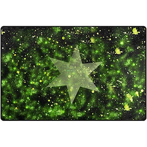 Ogden Moll Alfombras De Área Alfombra Piso Rectángulo Lavable Azul Estrella Espacio Universo Cielo...