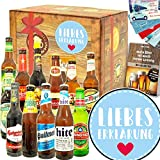 Liebeserklärung - Geschenk 12x Bier Welt - Ideen Valentinstag Geschenke