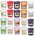 20 x Official Yankee Candle Classic Sensation Fragrances Votive Sampler Candles by My Planet
