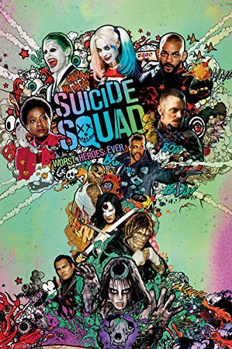 Suicide Squad - Movie Poster / Print (Regular Style - Worst.Heroes.Ever.) (Size: 24 x 36) by Posterstoponline