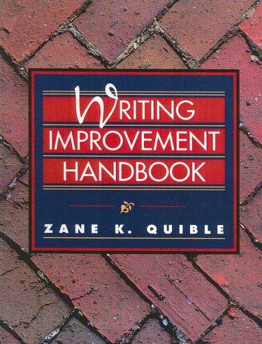 Writing Improvement Handbook PDF Books