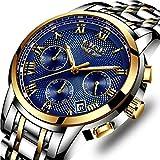 Orologi uomo sportivo Cronografo Impermeabile analogico al quarzo Orologio Uomo Luxury Brand LIGE Fashion Classic Attività commerciale Acciaio inossidabile Uomo Orologio da polso