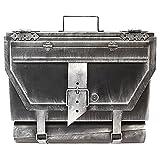 Wand Briefkasten Wandbriefkasten Postkasten Mailbox eckig Antik-Look mit Zeitungsrolle Zeitungsfach Zeitungsbox - Silber