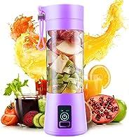 Torix 380ml Purple juicer 4 blade Portable Juice Extractor Household Multi-functional Juicer Cup Electric Mini 4 Leaf Juice C