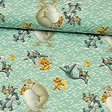 Baumwolljersey Digitaldruck Lizenzstoff Tom & Jerry