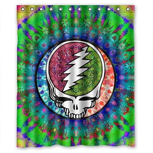 Multi Polyester (Shower Curtain Rock Band Grateful Dead Wasserdicht Duschvorhang, Polyester Bad Vorhang, Polyester, multi, 60