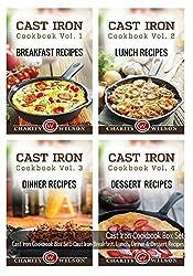 Cast Iron Cookbook: Volumes 1-4: Cast Iron Breakfast, Lunch, Dinner & Dessert Recipes by Charity Wilson (2015-04-22)