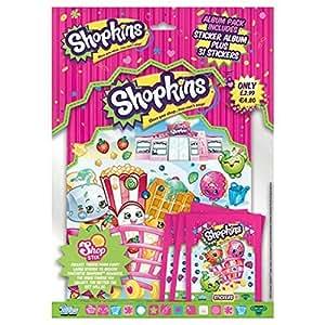 Topps Shopkins pack de démarrage de la vignette - comprend sticker album + 81 autocollants
