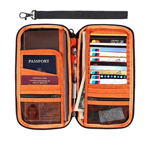 RFID Reisebörse - IntiPal Reiseetui Reiseorganizer Reisepasshülle Reisebrieftasche (Schwarz)