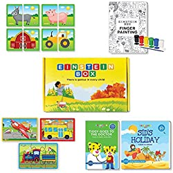Einstein Box for 2 year olds (Learning and educational games, books and puzzles for 2 year old boys and girls - Birthday gifts and toys for baby, children)