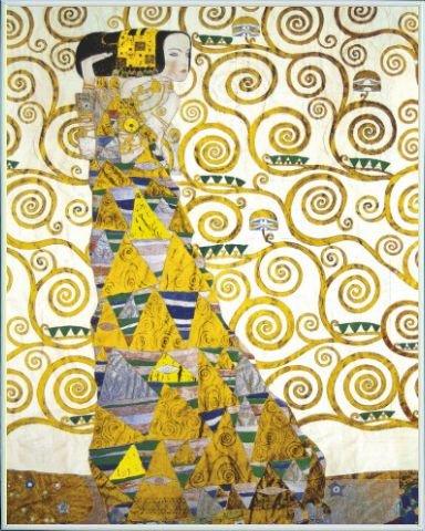 1art1 Gustav Klimt Poster Kunstdruck und Kunststoff-Rahmen - Die Erwartung, 1905-1909 (Detail) (50 x 40cm) (1905 Poster)