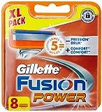 Ancienne Version Gillette Fusion Power Lames de Rasoir Pack de 8
