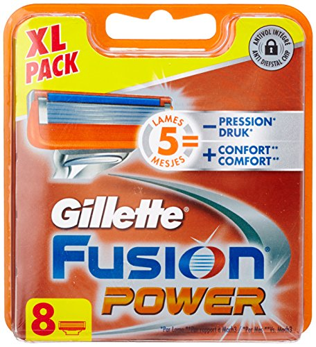 Ancienne Version Gillette Fusion Power Lames de Rasoir Pack de 8
