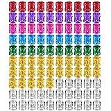 100 Piezas de Dreadlocks Puños de Pelo de Metal Anillo de Trenzado de Pelo Accesorios de Pelo, Colores Variados