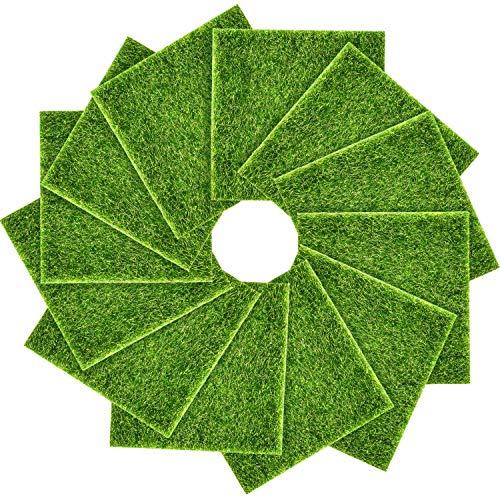 Garten-Gras mit lebensechten Feen Kunstrasen 15,2 x 15,2 cm Miniatur Ornament Garten Puppenhaus DIY Gras (8 Packungen) 12 Packs ()