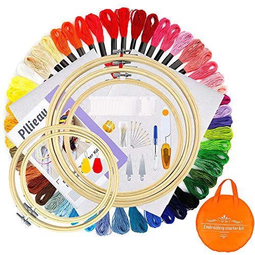 Pllieay Embroidery Starter Threads 18 Inch