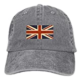 KCOUU Men and Women British Flag Vintage Jeans Baseball Cap