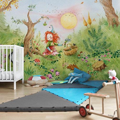 Apalis Kindertapeten Vliestapeten Frida sammelt Kräuter Fototapete Breit | Vlies Tapete Wandtapete Wandbild Foto 3D Fototapete für Schlafzimmer Wohnzimmer Küche | mehrfarbig, 94649