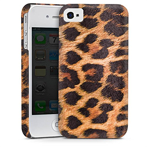 Apple iPhone 4 Hülle Premium Case Cover Leopard Pattern Muster (Leopard-druck Iphone 4 Case)