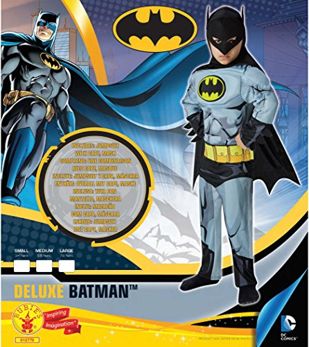 Imagen de batman  cómic deluxe  disfraz infantil  medio  116cm  edad 5 6 alternativa