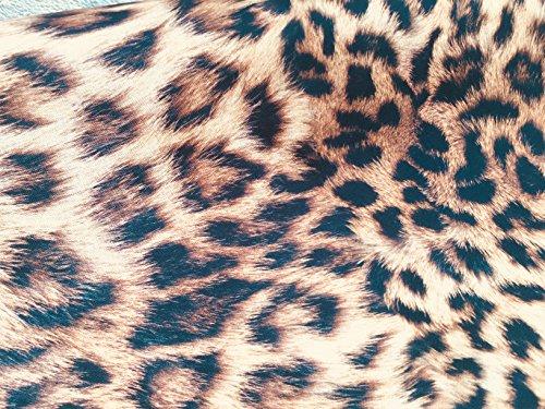 Tela con estampado de leopardo y animales, material de algodón de piel, lienzo con impresión digital animal para tapicería, cortinas, confección de vestidos (280 cm extra ancho, se vende por metro)