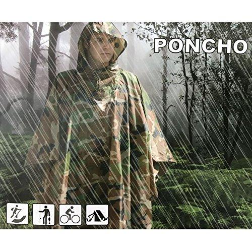 Jagd Angeln Outdoor Army Bundeswehr Regenponcho Regenjacke Nässeschutz Camouflage Flecktarn Wasserdicht