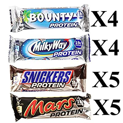 Mixed Box Protein Bars Mars, Milky Way, Snickers & Bounty from Mars