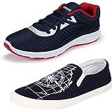 Earton Men Comfortable & Trendy Look Canvas Running Shoes (COMBO-1083+461_$p)