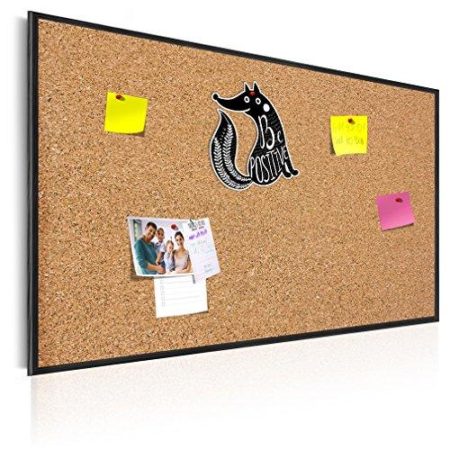 decomonkey 90x60 cm XL Format! KORK-PINNWAND Bilder mit Echt-Holz-Rahmen! 90x60 cm - KORK Tafel im Holzrahmen! Aufhängfertig! Wandbilder, wasser- und wischfest!t Schwarz – CF1A0003a1M