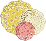 Talking Tables Truly Scrumptious Floral Doilies for a Tea Party, Birthday or Baking, Multicolor (24 Pack)