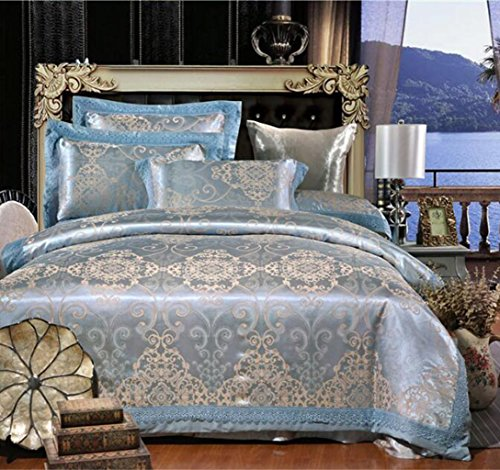 European and American style luxury palace bedding four sets of satin jacquard sets sets Versace Jacquard