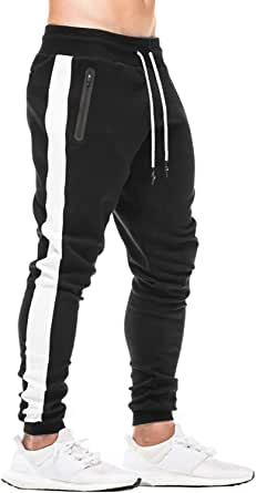 FEDTOSING Mens Joggers Gym Sweatpants Tracksuit Bottoms Casual Jogging Workout Trousers with Pockets
